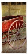 Wagon - That Old Red Wagon  Beach Towel