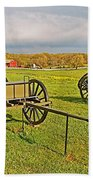 Wagons Used In The Civil War In Gettysburg National Military Park-pennsylvania Beach Towel