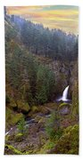 Wahclella Falls In Columbia River Gorge Beach Towel