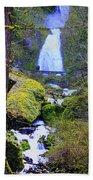 Wahkeena Falls Beach Towel