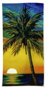Waikiki Sunset #38 Beach Towel
