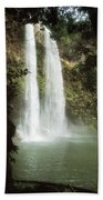 Wailua Falls 3 Beach Towel