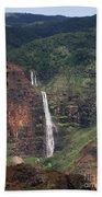 Waimea Canyon Waterfall Beach Towel
