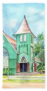 Wai'oli Hui'ia Church Beach Towel