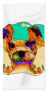 Waiting For You. Dog Series Beach Towel