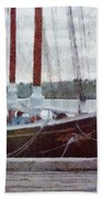 Waiting To Sail Beach Towel