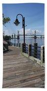Walk Along The Fear River - Wilmington Beach Towel