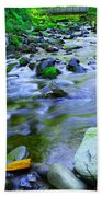 Walk Bridge Over Moffit Creek Beach Towel