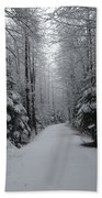 Walk With Frost Beach Towel