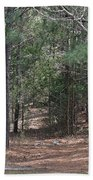 Walking In The Pine Forest Beach Towel