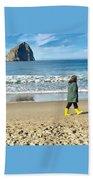 Walking On The Beach Beach Towel