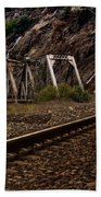 Walking The Tracks Beach Towel