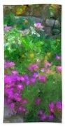 Wall Flowers, Croatia Beach Towel