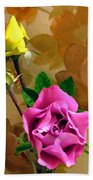 Wall Flowers Beach Towel