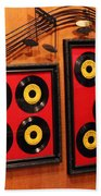 Wall Of Records Beach Towel
