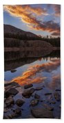 Wall Reflection Beach Towel