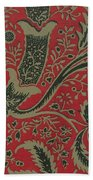 Wallpaper Sample With Bamboo Pattern By William Morris Beach Towel