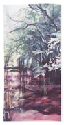 Wall's Bridge Reflections Beach Towel