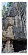 Walnut Canyon National Monument Portrait Beach Towel