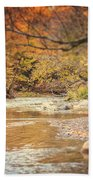 Walnut Creek In Autumn Beach Towel