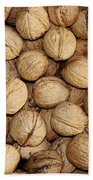 Walnuts Beach Towel