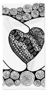 Walt Disney's Mickey Mouse Inspired Hands And Heart Beach Towel