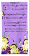 Waltz Of The Flowers Dancing Iris Beach Towel