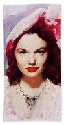 Wanda Hendrix, Vintage Movie Star Beach Sheet