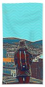 Wander For A Bit Poster Beach Towel