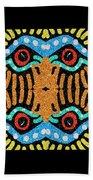 War Eagle Totem Mosaic Beach Towel