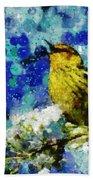 Warbler Of Spring Beach Towel