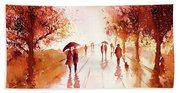 Warm Rain Beach Towel
