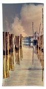 Warm Reflections In The Marina Beach Towel