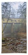 Warner Hollow Rd Covered Bridge Beach Towel