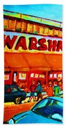 Warshaws Fruitstore On Main Street Beach Towel