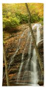 Wash Hollow Falls Nantahala National Forest Nc Beach Towel