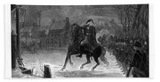 Washington At The Battle Of Trenton Beach Sheet