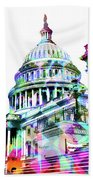 Washington Capitol Color 1 Beach Towel