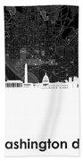 Washington Dc Skyline Map 5 Beach Towel