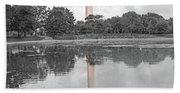 Washington Monument Mallards In Love Beach Sheet