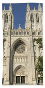 Washington National Cathedral Front Exterior Beach Towel