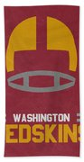 Washington Redskins Vintage Art Beach Towel