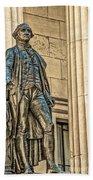 Washington Statue - Federal Hall  #1 Beach Towel