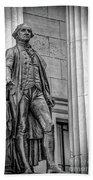 Washington Statue - Federal Hall #3 Beach Towel