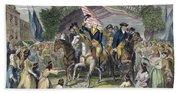 Washington: Trenton, 1789 Beach Towel