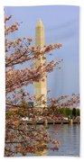 Washinton Monument In Spring Beach Towel