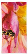 Wasp And Flower Beach Towel