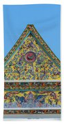 Wat Ratcha Orasaram Phra Wihan Gable Dthb0862 Beach Towel
