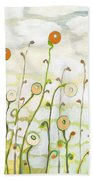 Watching The Clouds Go By No 2 Beach Towel by Jennifer Lommers