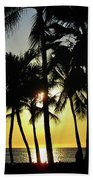 Watching The Hawaiian Sunset  Beach Towel